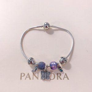 🐯Pandora Jewelry 'Butterfly Notes' Bracelet
